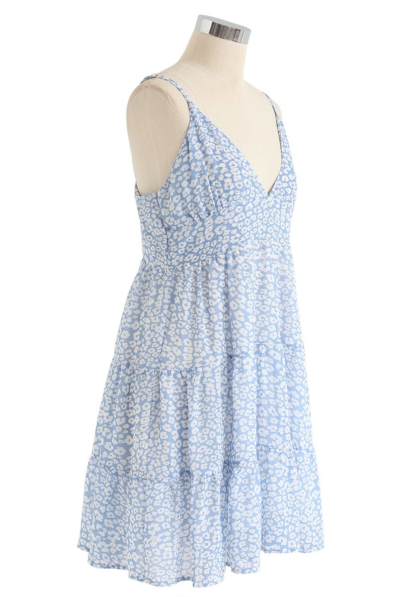 Enchanted Floret Chiffon Mini Cami Dress