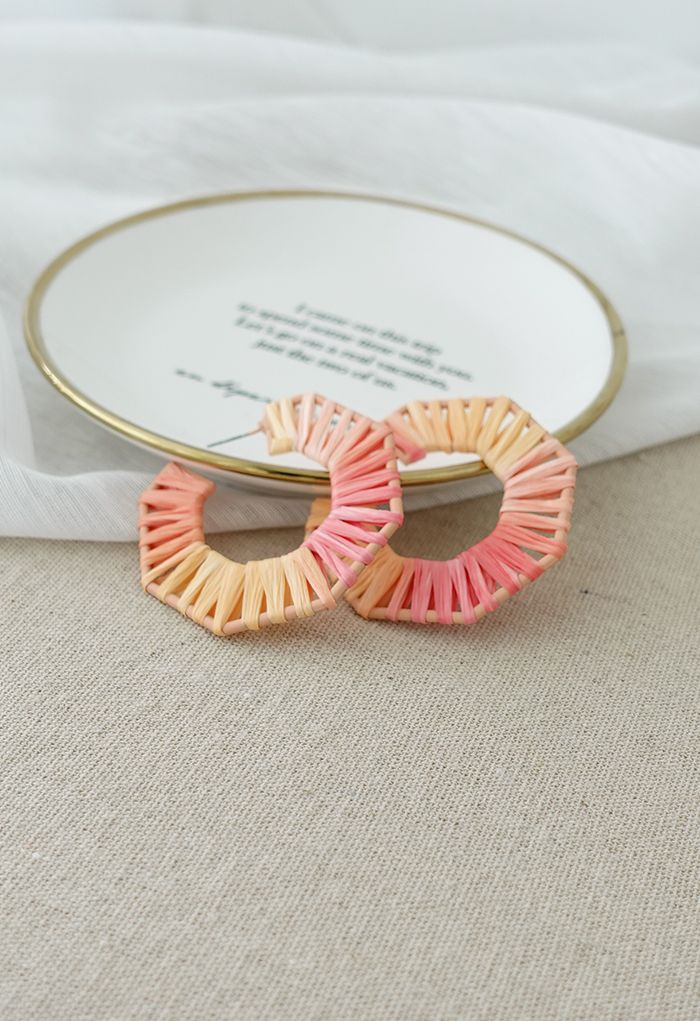 Rattan Profile Hoop Earrings