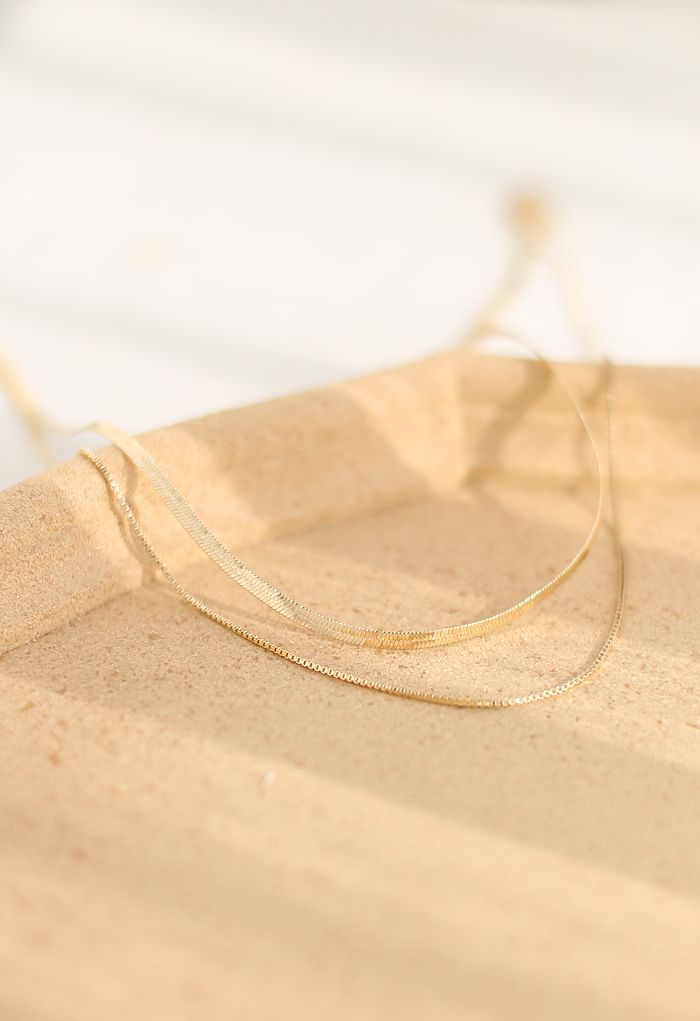 Golden Double-Layered Necklace