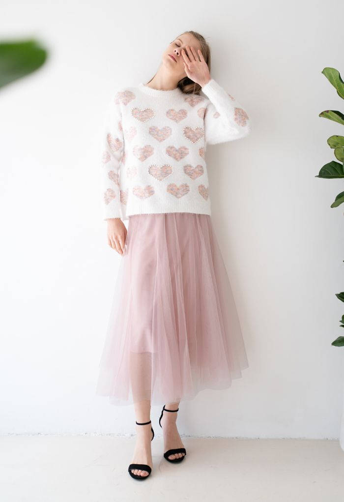 My Secret Weapon Tulle Maxi Skirt in Pink