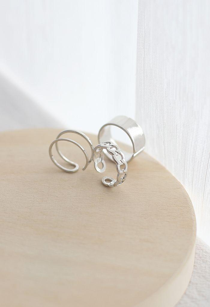 3-Pack Simple Design Rings