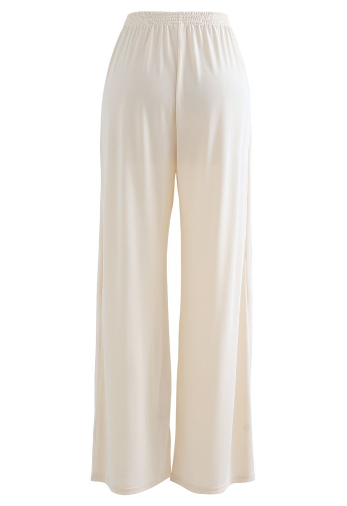 Normcore Side Pockets Lounge Pants in Cream