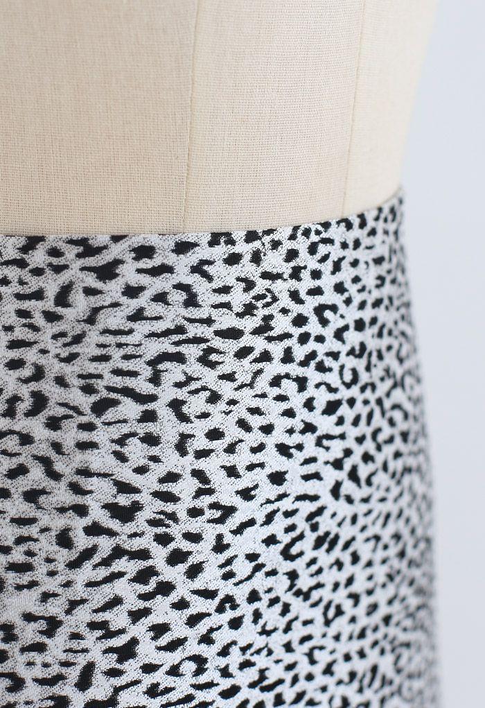 Black Irregular Dot Mini Skirt