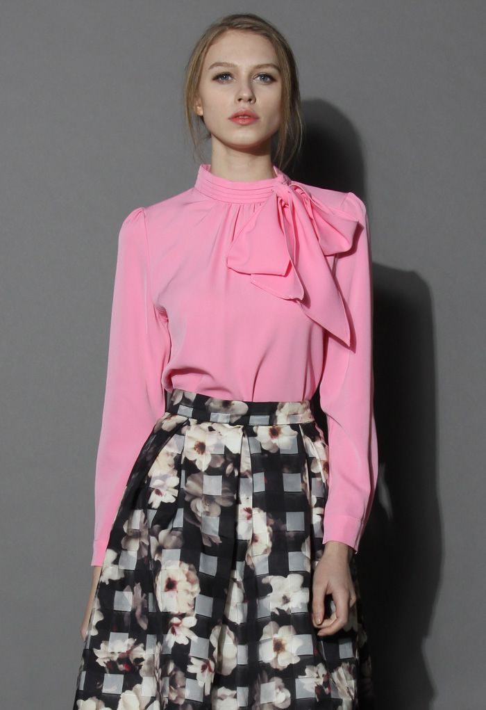 Kiss Me Bow Top in Candy Pink
