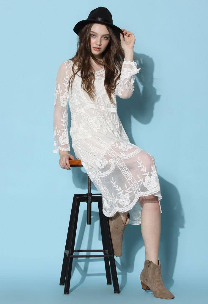 Boho Breeze Sheer Lace Dress