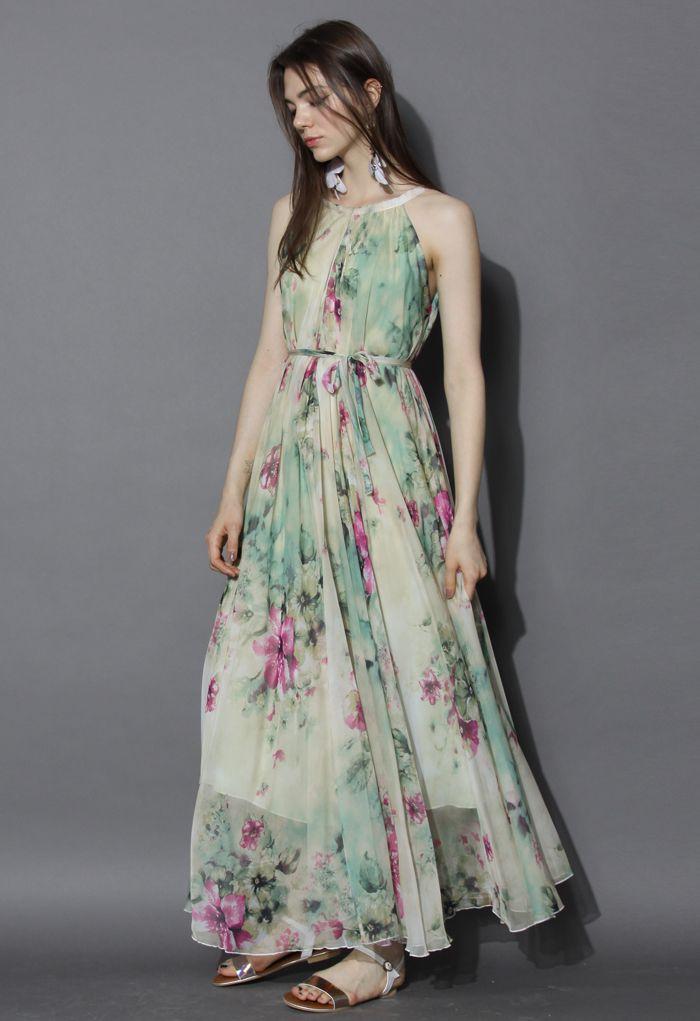 Flower Lullaby Maxi Slip Dress