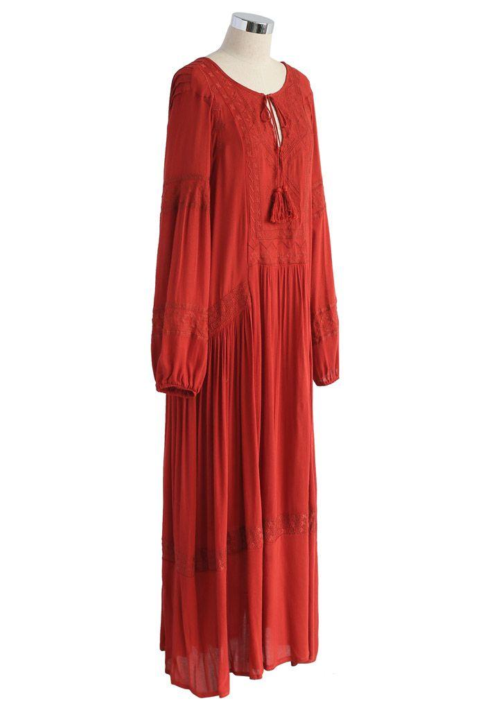Boho Ease Embroidered Maxi Dress
