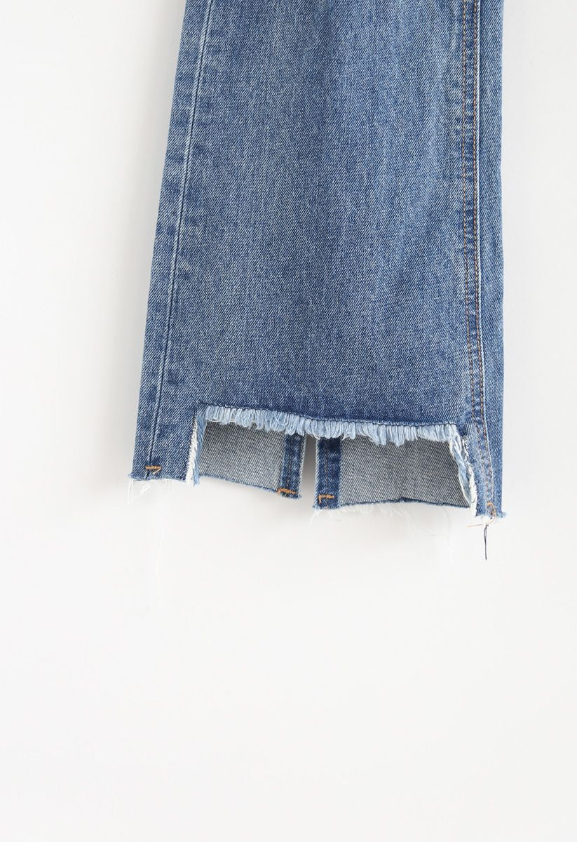 Absolutely Lovely Frayed Flare-Leg Jeans