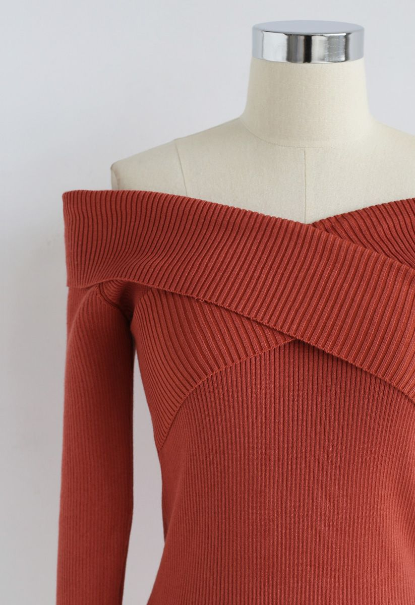 Cross On Love Knit Top in Caramel