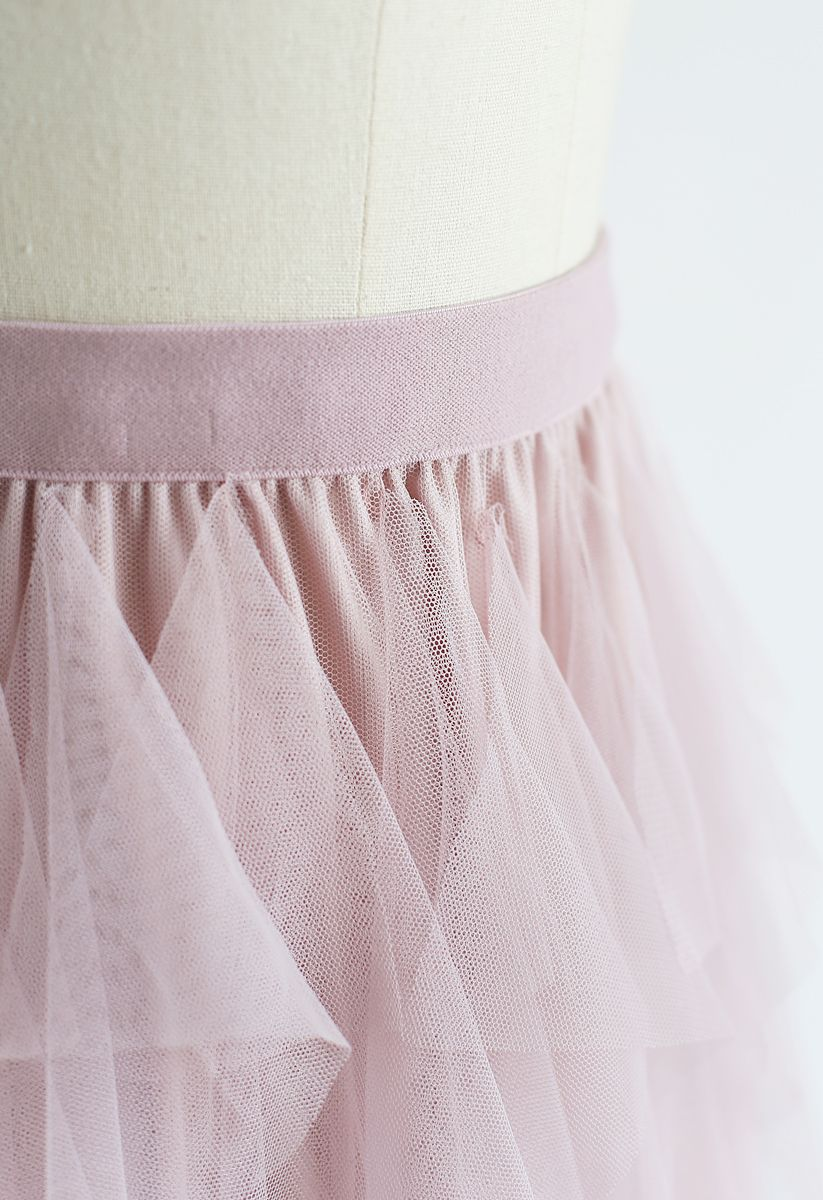 The Clever Illusions Mesh Skirt in Pink