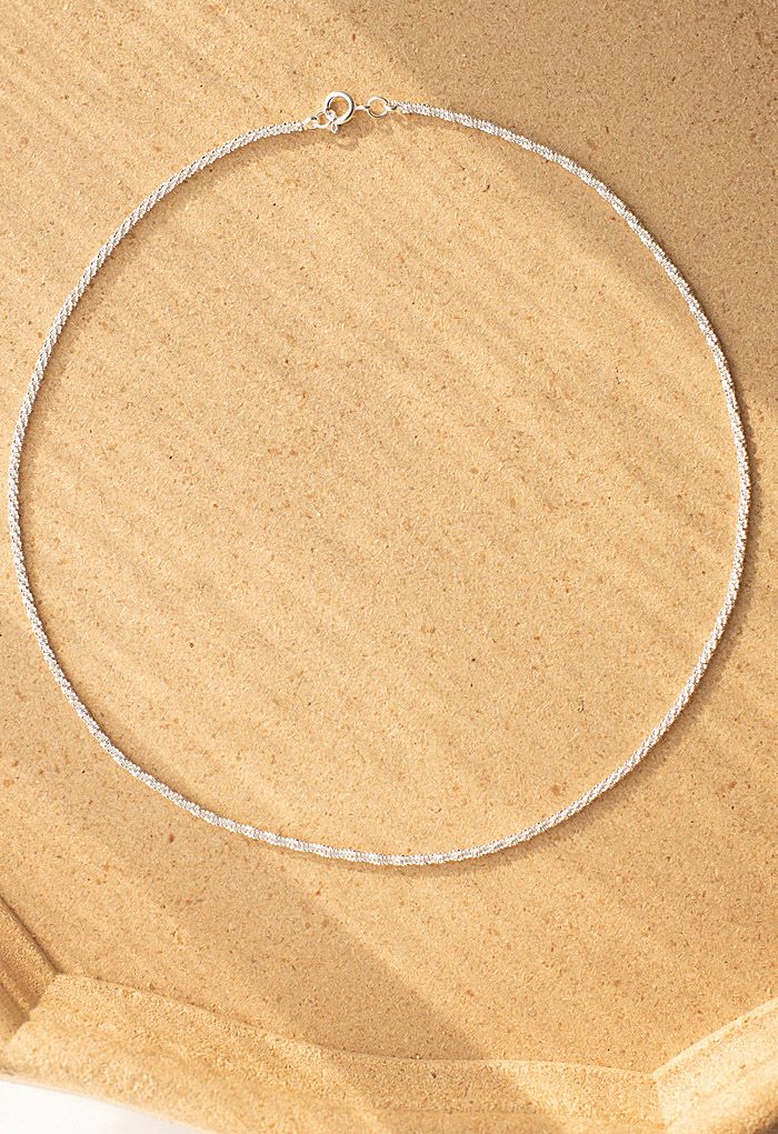 Shimmer Silver Necklace