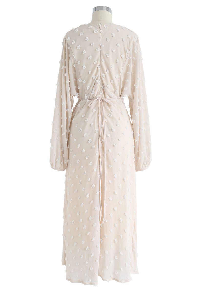 Cotton Candy Sheer Maxi Dress in Cream