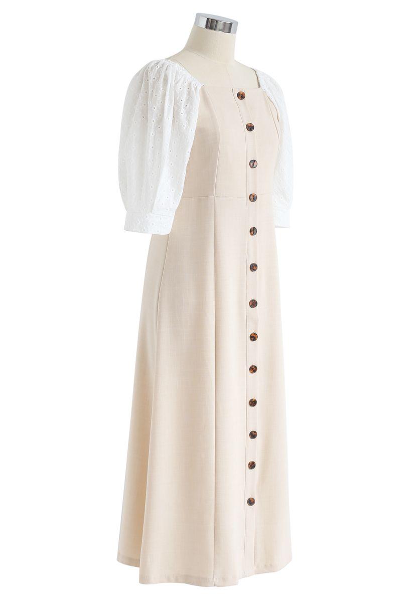 Linen Wishes Button Down Midi Dress