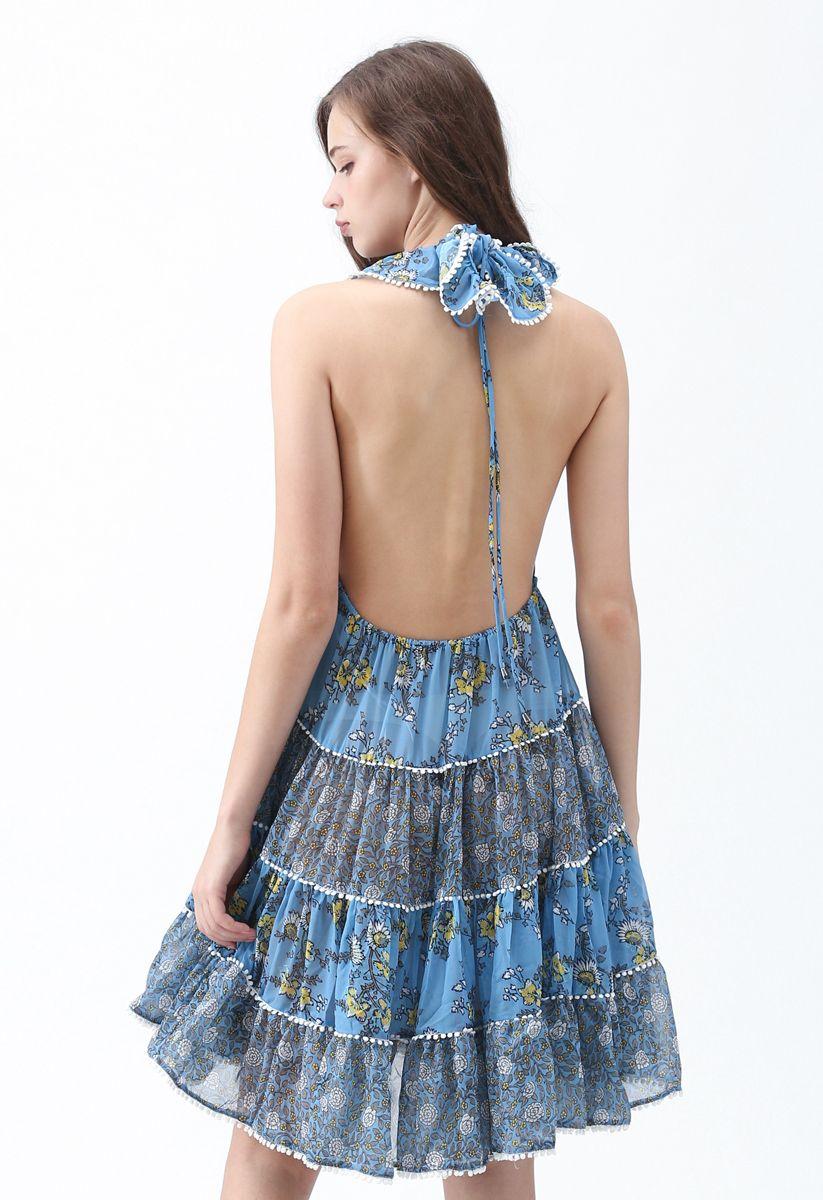 Set You Free Floral Backless Dress