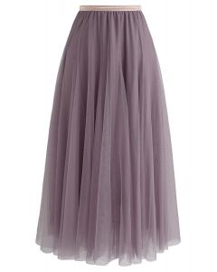 My Secret Weapon Tulle Maxi Skirt in Berry