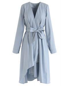 Bowknot Asymmetric Ruffle Dress