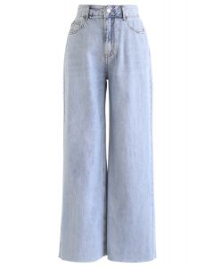Light Blue Wide-Leg Jeans