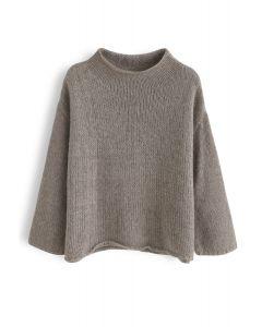 Leisure Turtleneck Fuzzy Knit Sweater