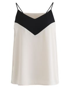 Two-Tone V-Neck Cami Tank Top