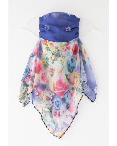 Floral Watercolor Chiffon Sun Protection For The Face