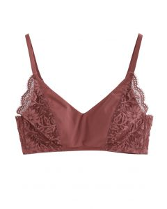 Inserted Cami Bra Top in Wine