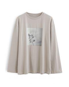 Printed Flower Loose T-Shirt