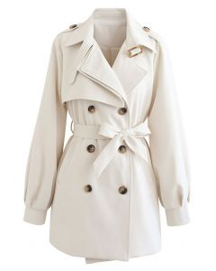 Original Double-Breasted Belted Coat in Ivory