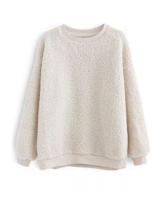 Sherpa Oversized Pullover in Cream