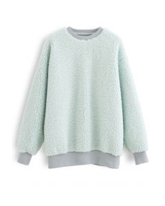 Sherpa Oversized Pullover in Mint