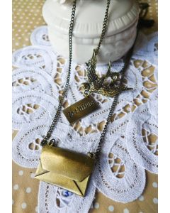 Peace Dove Double Dayers Necklace