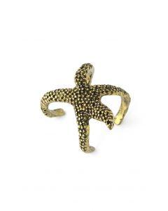 Golden Starfish Ring