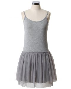 Ballet Tulle Dress in Grey