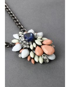 Diamond Jewel Stone Necklace