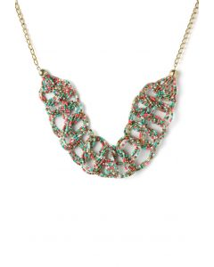 Multi-Color Bohemian Beads String Woven Necklace