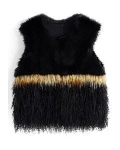 Wild at Heart Faux Fur Vest in Black