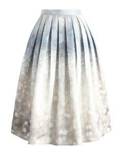 Glorious Sparkles Print Midi Skirt