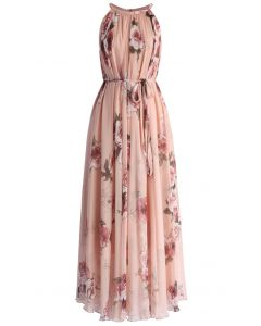 Pink Rose Panache Maxi Slip Dress