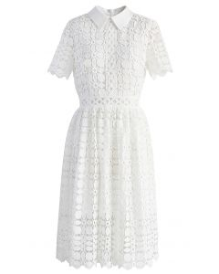 Splendid Crochet White Dress