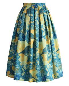 Floral Affection Printed Midi Skirt