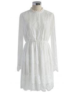 Pretty in White Full Lace Dress