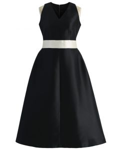 Captivating Black V-neck Prom Dress