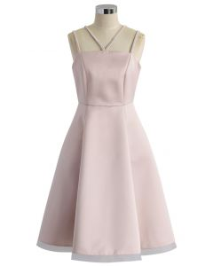 Pink and Grace Dress with Braided Straps