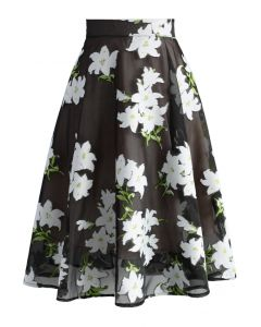Lily of the Valley Organza A-line Skirt