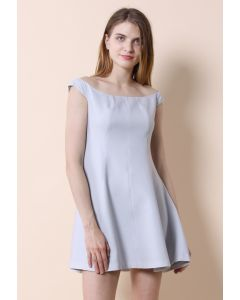 Grey Devotion Off-shoulder Dress