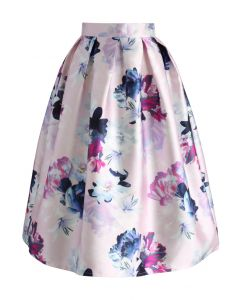 My lovely Bouquet Printed Midi Skirt