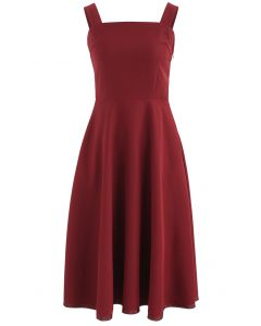 Elegant Instinct Cami Dress in Wine