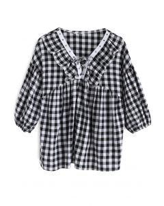 Adorable Gingham Dolly Top