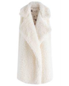 Winter Faerie Fluffy Vest in Cream