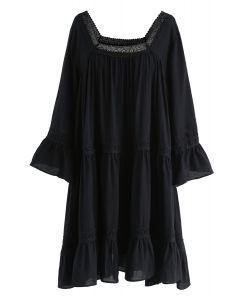 Revel in Romance Dolly Dress in Black