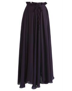 Dream Dancer Chiffon Maxi Skirt in Purple